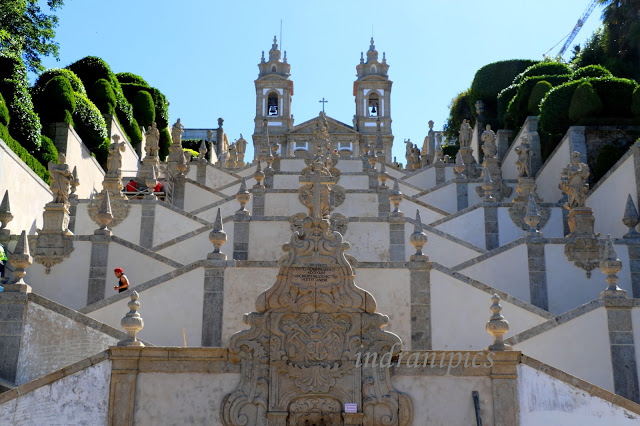 Baroque Double Staircase of Bom Jesus do Monte, Braga, Portugal - i Share