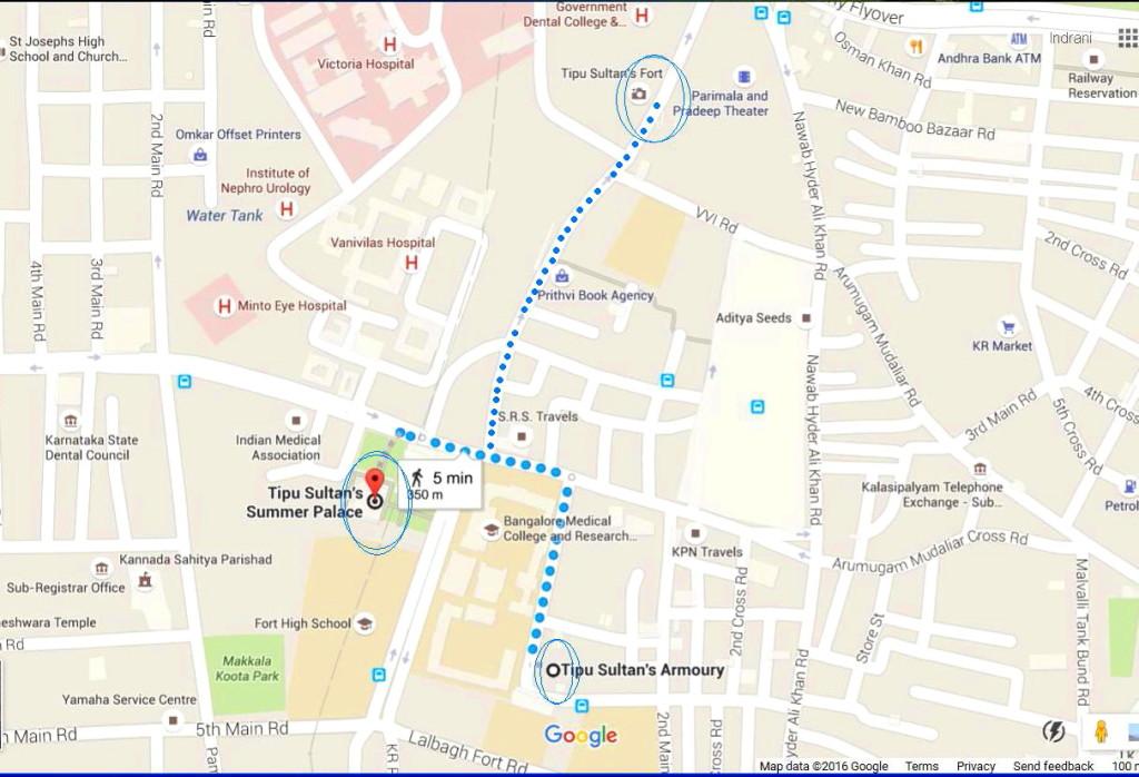 map Bangalore Fort 1