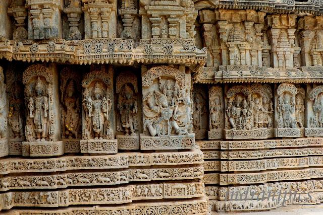 Lakshminarasimha Temple Javagal wall panel 2