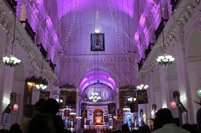 Cucumber festival Goa St. Anne's Church interiors