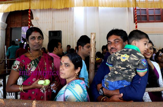 Hindu Family at Cucumber Festival Goa