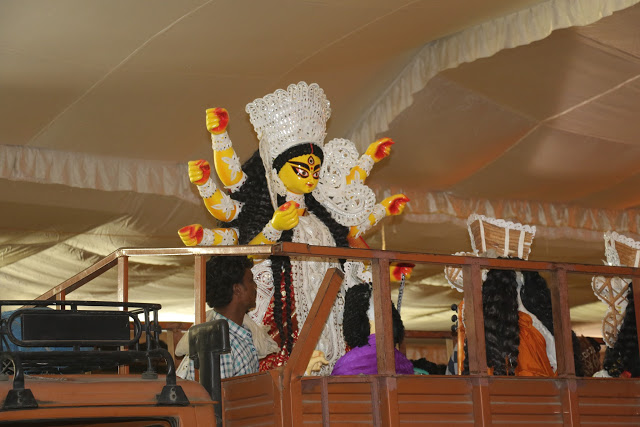 arrival-of-idol-of-goddess-durga