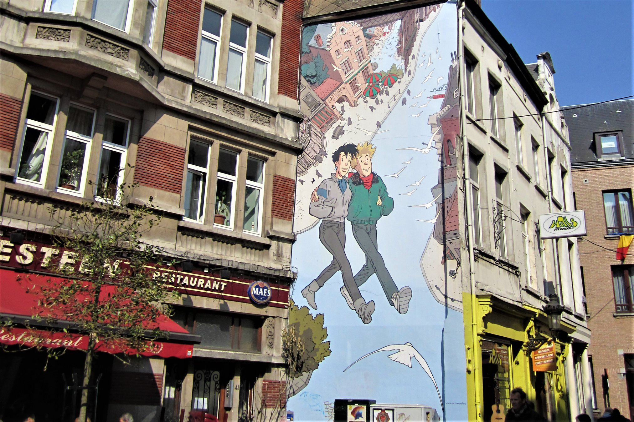 Brussels Comic Strip Murals and Street Art Belgium