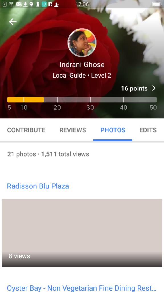 I am now a Level 2 Local Guide in Google Maps
