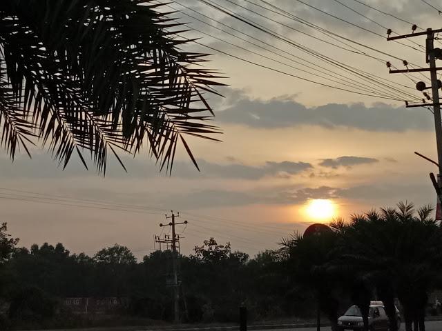 Sunset at Srrangapatna